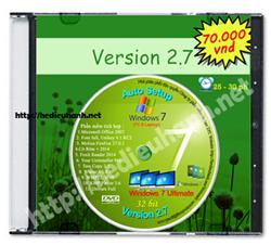 Đĩa cài windows 7 tự động Ultimate 32bit Office 2007 version 2.7