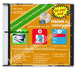 Đĩa cài windows 7 tự động Pro 64bit Office 2010 version 2.7