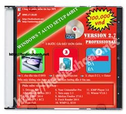 Đĩa cài windows 7 tự động Pro 64bit Office 2013 version 2.7