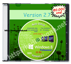 Đĩa cài windows 8 Pro 32bit Office 2007 version 2.7