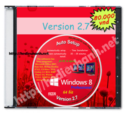 Đĩa cài windows 8 Pro 64bit Office 2007 version 2.7