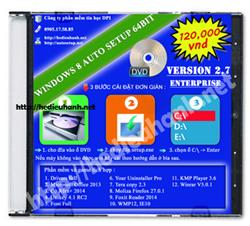 Đĩa cài windows 8 Enterprise 64bit Office 2013 version 2.7