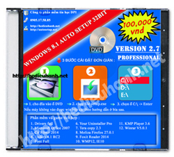 Đĩa cài windows 8.1 Pro 32bit Office 2007 version 2.7