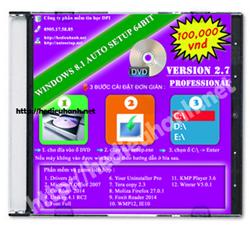 Đĩa cài windows 8.1 Pro 64bit Office 2007 version 2.7