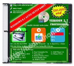 Đĩa cài windows 8.1 Pro 64bit Office 2010 version 2.7