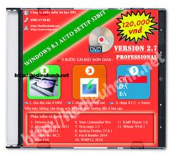 Đĩa cài windows 8.1 Pro 32bit Office 2013 version 2.7