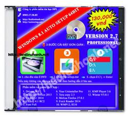 Đĩa cài windows 8.1 Pro 64bit Office 2013 version 2.7