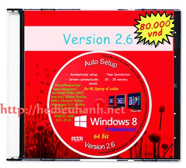 Đĩa cài Windows 8 tự động - Windows 8 auto setup