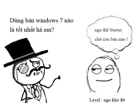 Chọn bản Windows 7 nào là tốt nhất ?