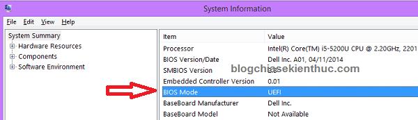 Máy tính của bạn đang sử dụng chuẩn UEFI hay Legacy?