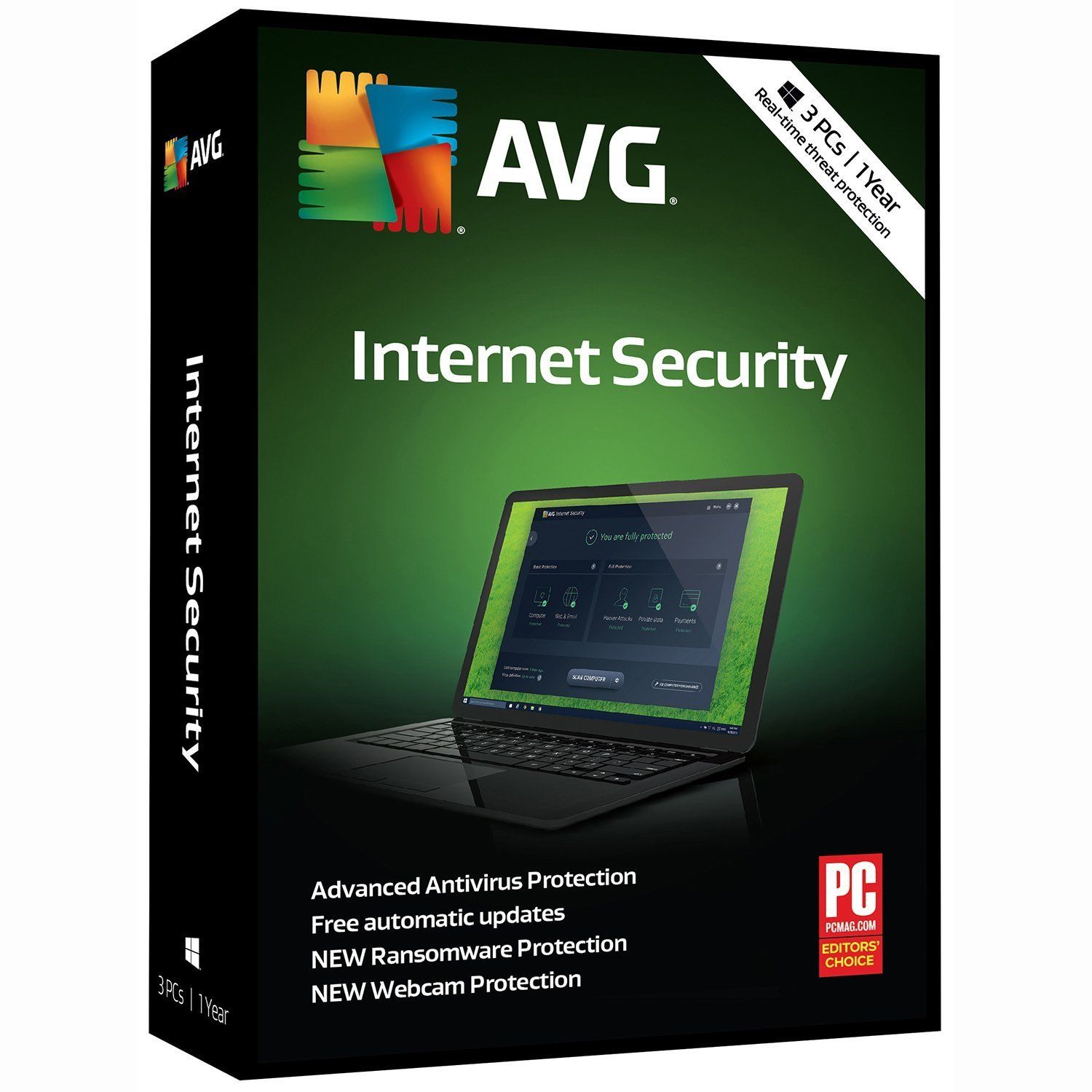 AVG INTERNET SECURITY 2021 1 DEVICE 1 YEAR