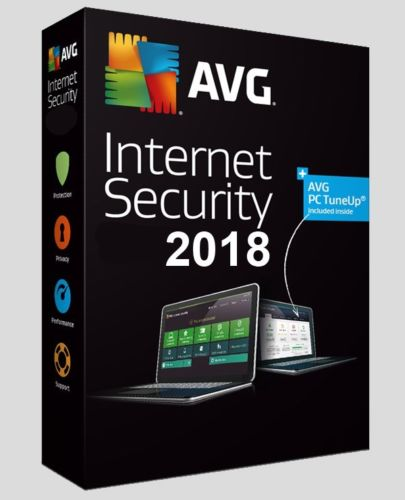 AVG Internet Security 2018 - 1 Year/3PC (Windows Only)