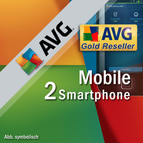 AVG Mobile AntiVirus Security PRO 2 Smartphones 1 Year | Tablet with Android