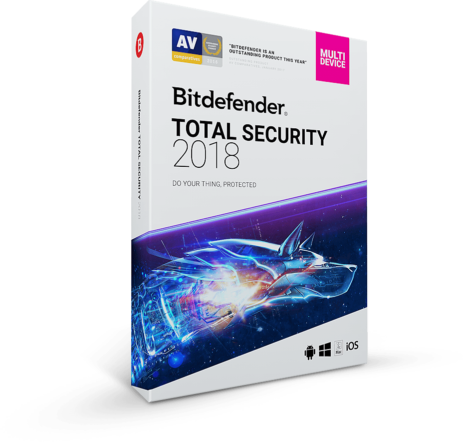 Bitdefender TOTAL Security 2018 6 Months 5 DEVICES internet antivirus