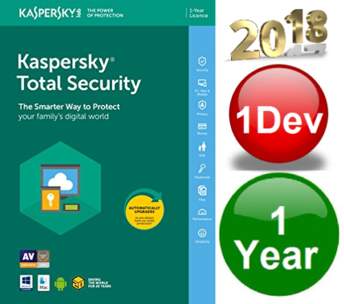 KASPERSKY Total Security 2018 1 PC/MAC/ANDR 1 Year