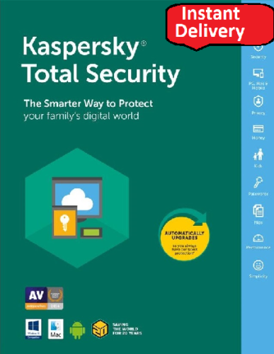 KASPERSKY Total Security 2018 1 Pc 1 Year, Global Key