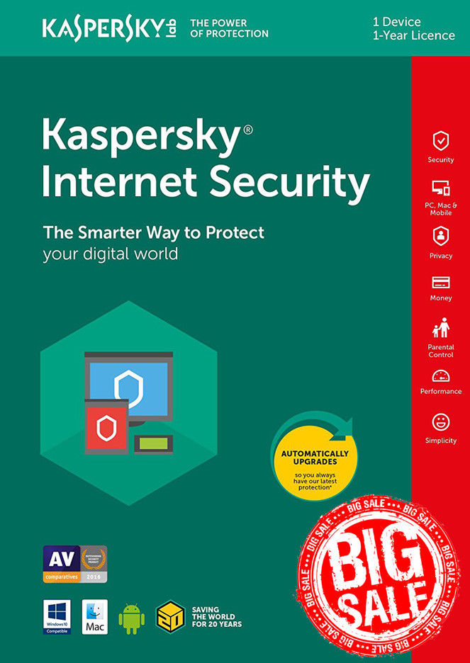 KASPERSKY INTERNET SECURITY for Android 2018 1 year 1 device