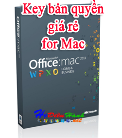 Key Office 2011 for MAC HOME AND BUSINESS bản quyền
