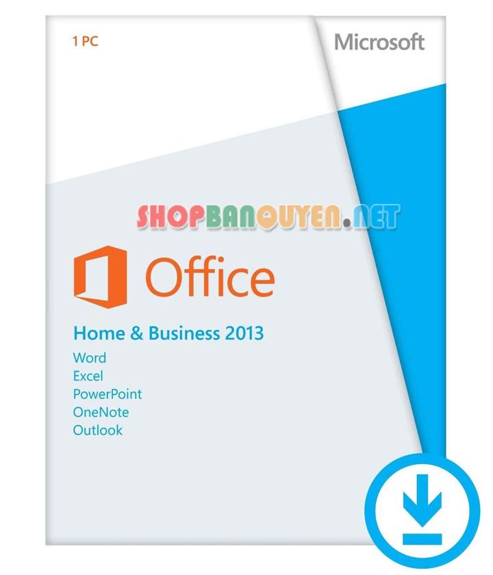 Key Office Home and Business 2013 bản quyền vĩnh viễn