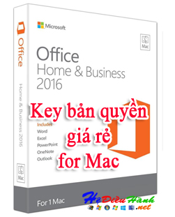 Key Office 2016 for Mac - Home and Business bản quyền vĩnh viễn