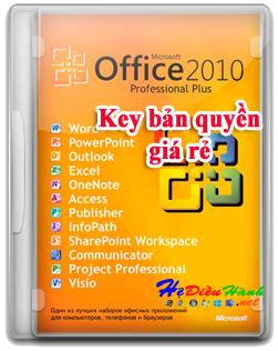 Key Microsoft Office 2010 Pro Plus 32/64 BIT bản quyền vĩnh viễn