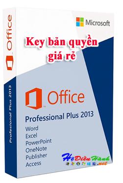 Key Microsoft Office 2013 Pro Plus 32/64 BIT bản quyền vĩnh viễn