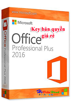 Key Microsoft Office 2016 Pro Plus 32/64 BIT bản quyền vĩnh viễn