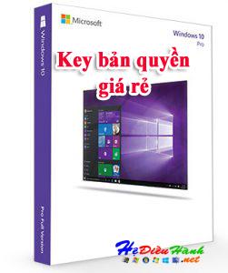 Key Windows 10 PRO 32/64 BIT bản quyền vĩnh viễn