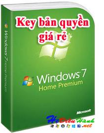 Key Windows 7 Home Premium 32/64 BIT bản quyền vĩnh viễn