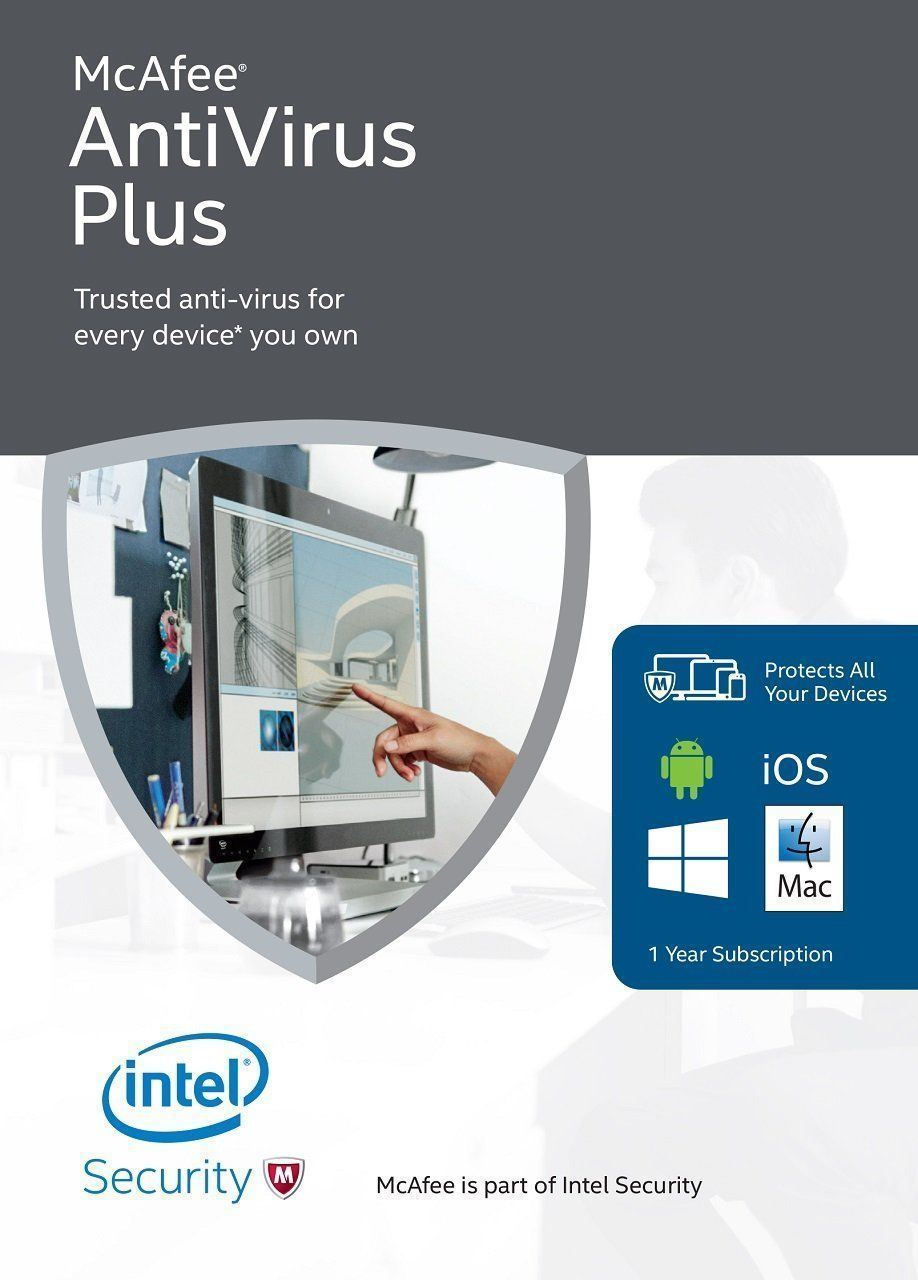 McAfee Antivirus Plus 2021 1 Year 1 devices