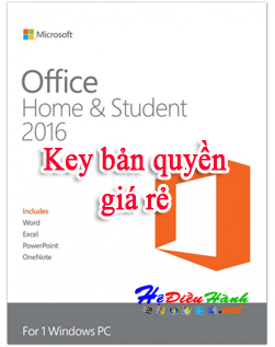 Key Office Home And Student 2016 bản quyền
