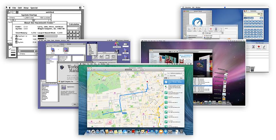 Giao diện người dùng của Mac OS - chặng đường 30 năm phát triển