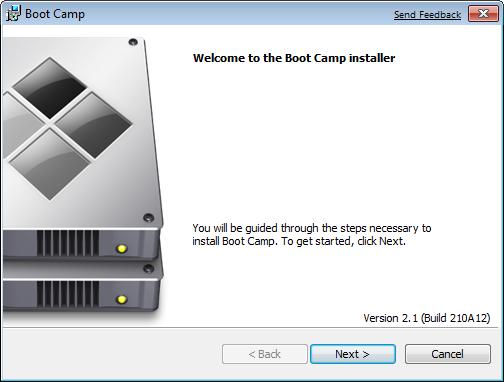 Boot Camp installer sẽ khởi chạy và bạn click chọn Next để bắt đầu