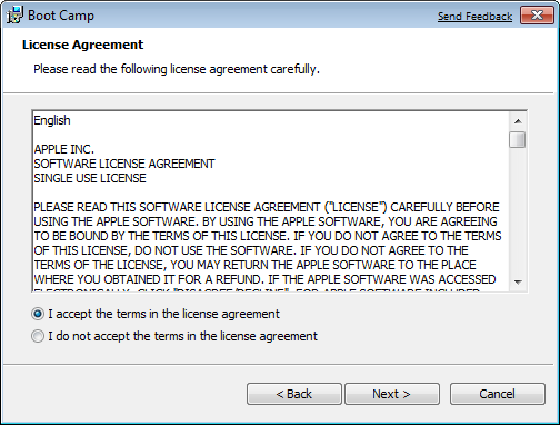 chọn I accept the terms in the license agreement rồi click chọn Next