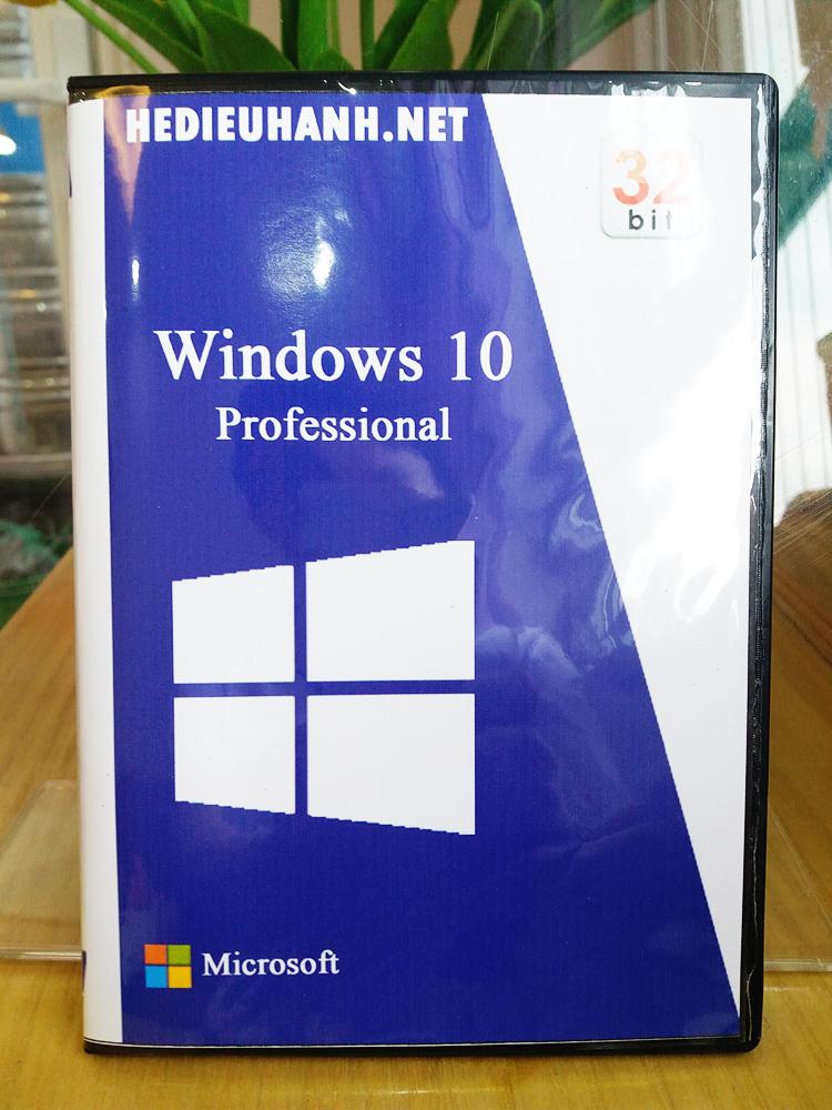 Đĩa cài windows 10 Pro 32 bit tự động