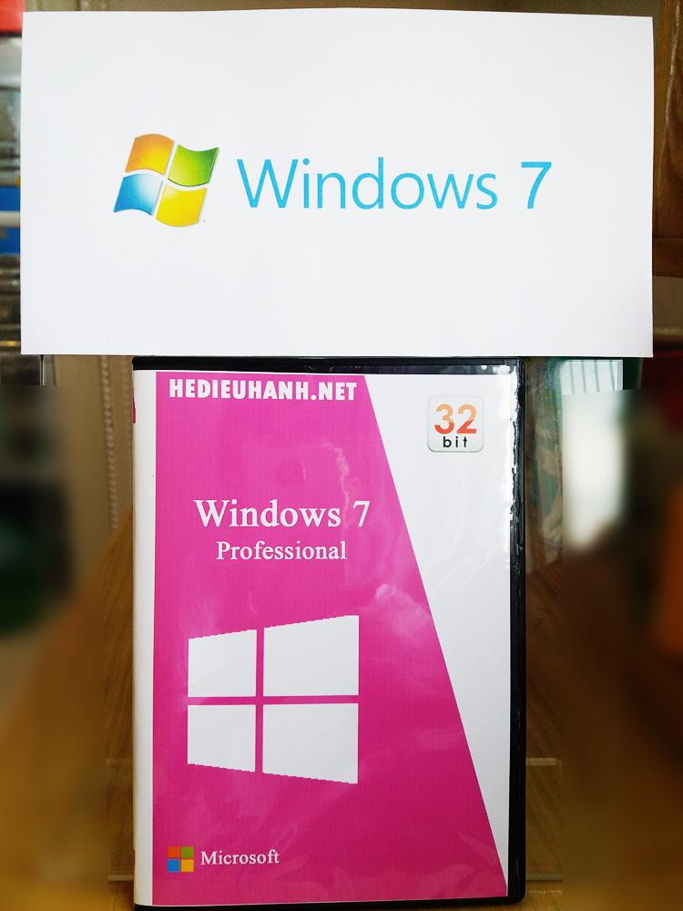 Đĩa cài windows 7 Pro 32 bit tự động