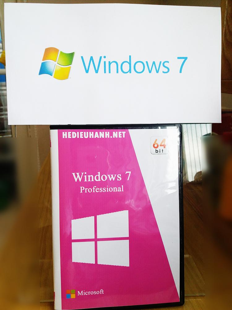 Đĩa cài windows 7 Pro 64 bit tự động