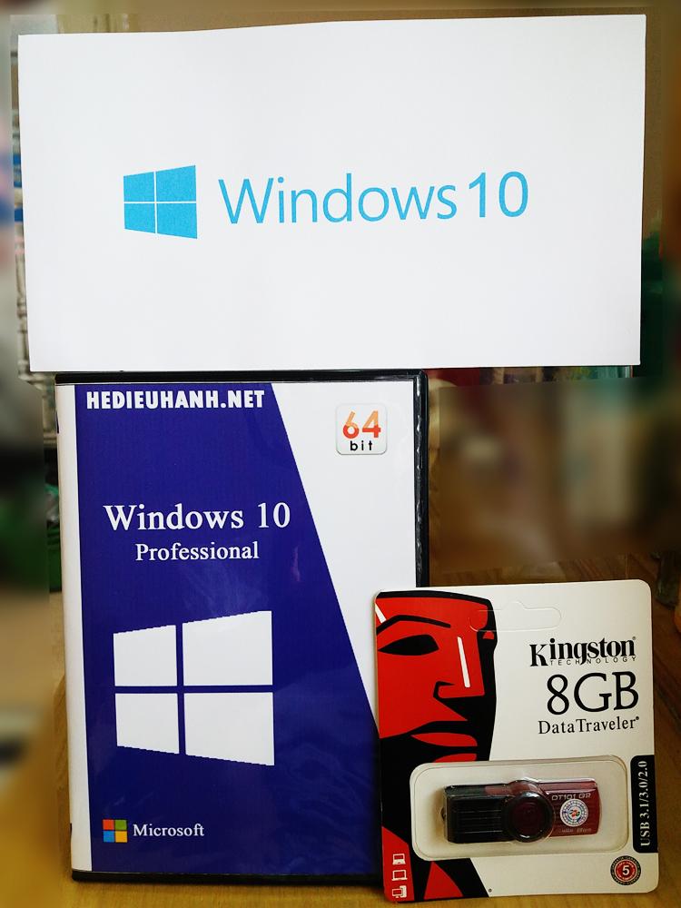 USB cài windows 10 Pro 64 bit tự động
