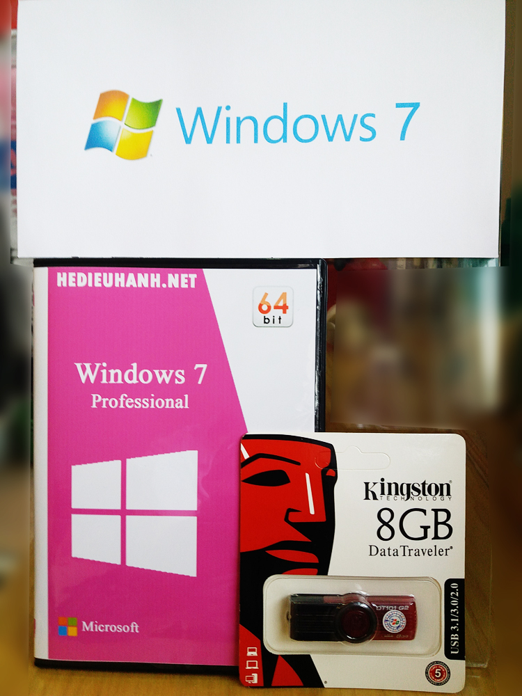 USB cài windows 7 Pro 64 bit tự động