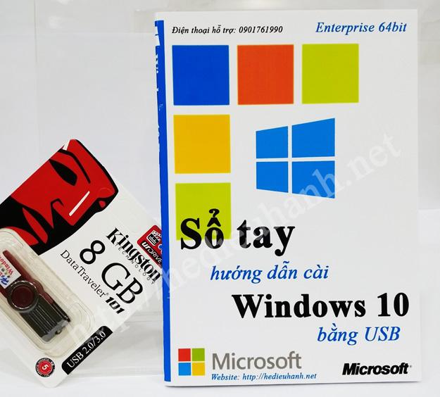 Sổ tay hướng dẫn cài windows 10 Enterprise 64bit bằng USB