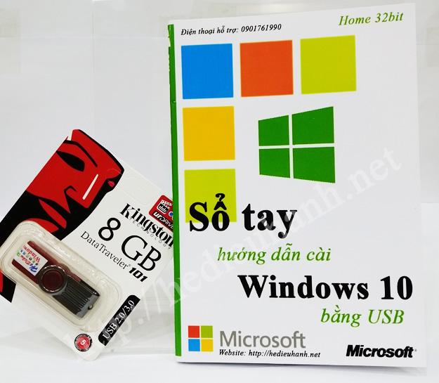 Sổ tay hướng dẫn cài windows 10 Home 32bit bằng USB
