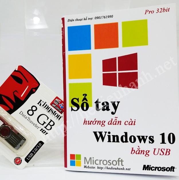 Sổ tay hướng dẫn cài windows 10 Pro 32bit bằng USB