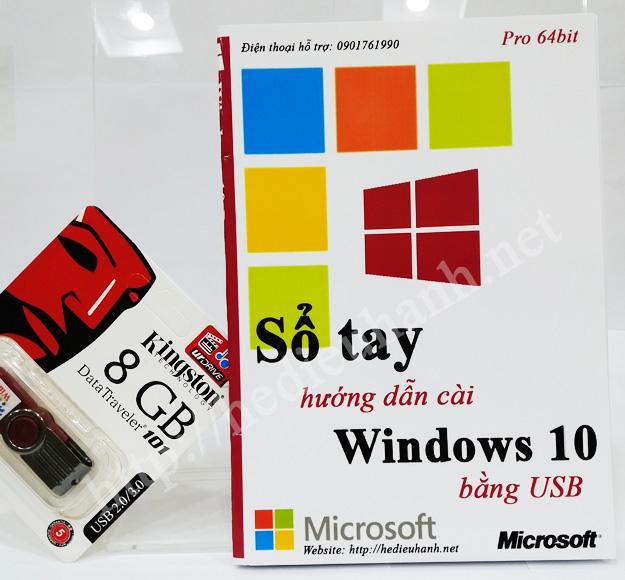 Sổ tay hướng dẫn cài windows 10 Pro 64bit bằng USB
