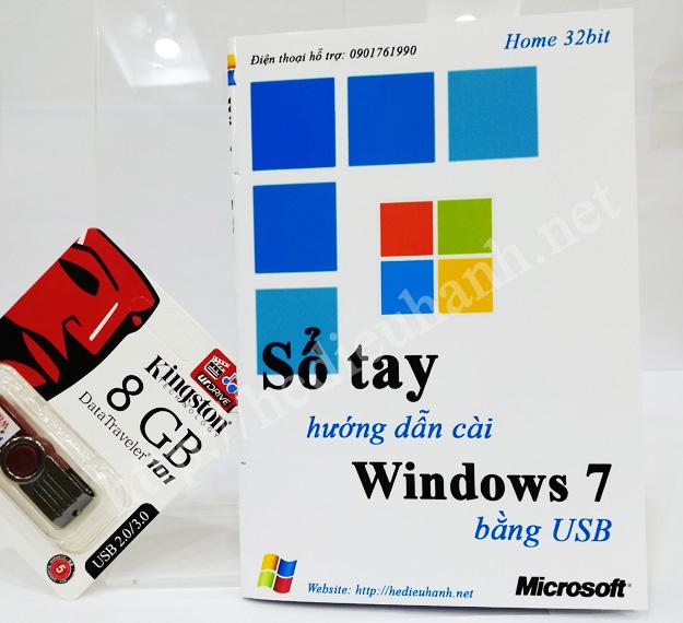 Sổ tay hướng dẫn cài windows 7 Home 32bit bằng USB