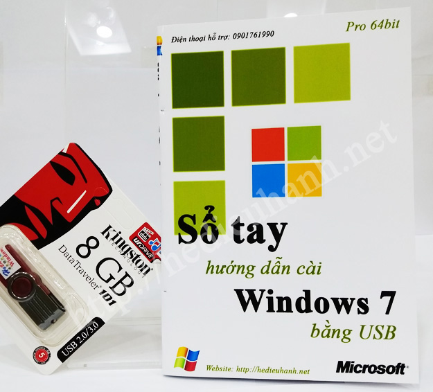 Sổ tay hướng dẫn cài windows 7 Pro 64bit bằng USB