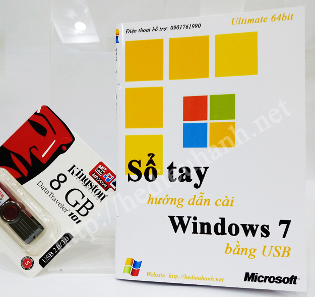 Sổ tay hướng dẫn cài windows 7 Ultimate 64bit bằng USB