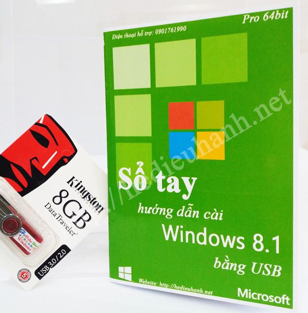 Sổ tay hướng dẫn cài windows 8.1 Pro 64bit bằng USB