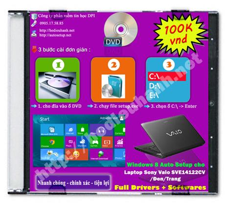 Windows 8 Sony Vaio SVE14122CV/Trắng
