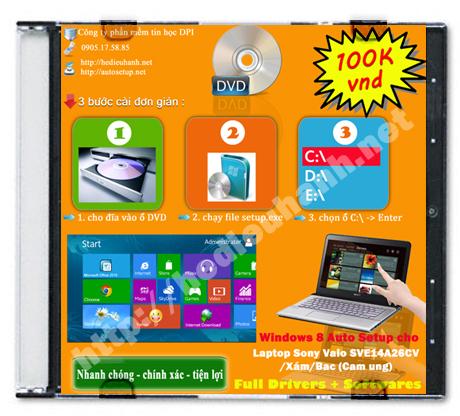 Windows 8 Sony Vaio SVE14A26CV/Xám/Bạc (Màn hình cảm ứng)