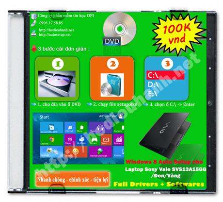 Windows 8 Sony Vaio SVS13A15GG/Đen/Vàng